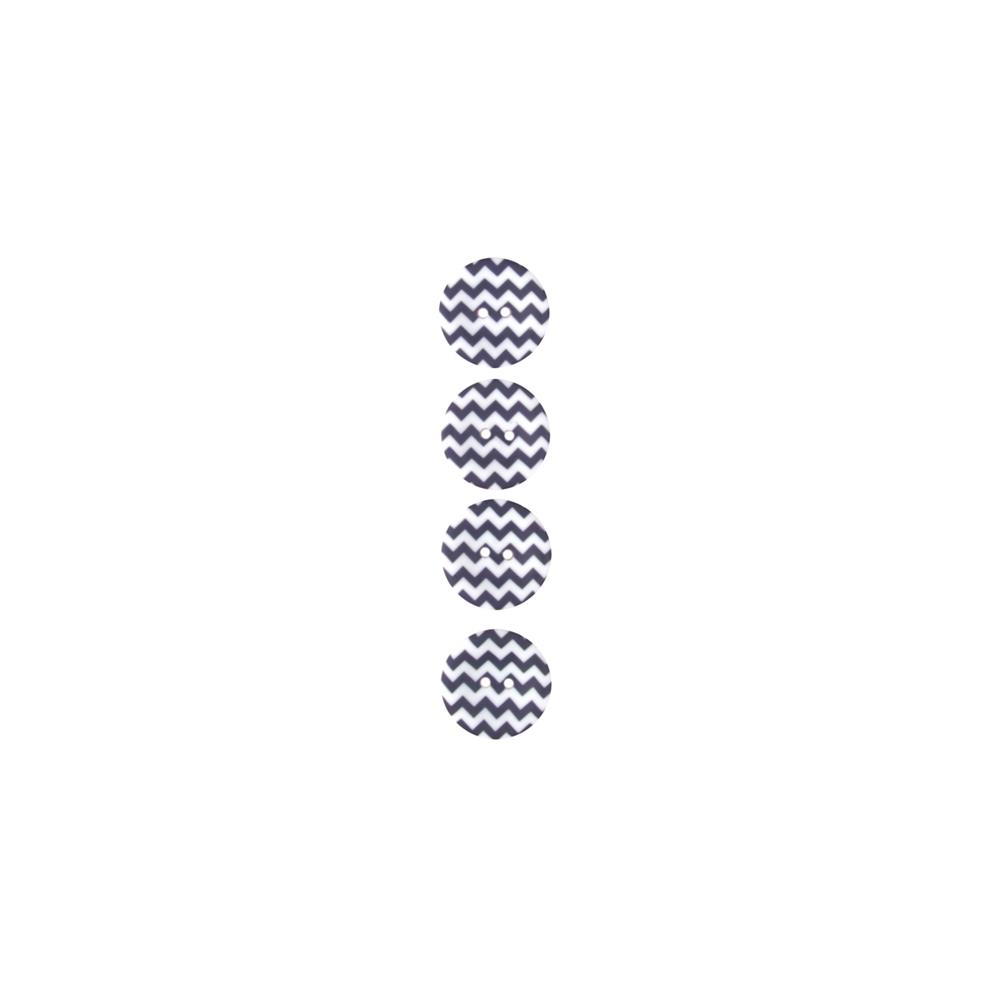 "Riley Blake Sew Together 1"" Matte Button Chevron Navy"