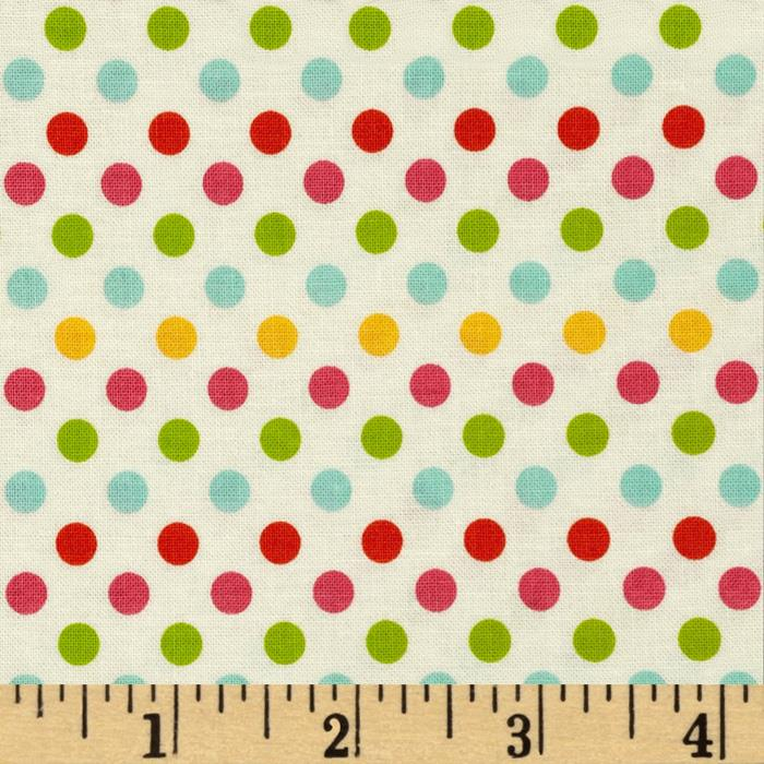 Riley Blake Small Dot Cream/Multi