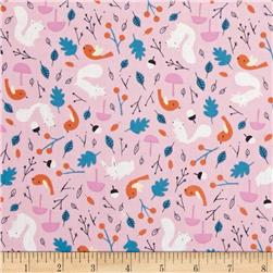 Cloud 9 Organic Sweet Autumn Day Forest Friends Pink