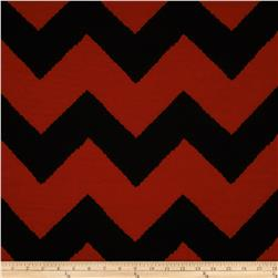 Fashionista Jersey Knit Large Chevron Brick/Black