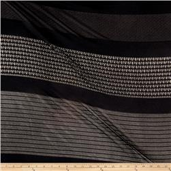 Stretch Mesh Rectangles Black