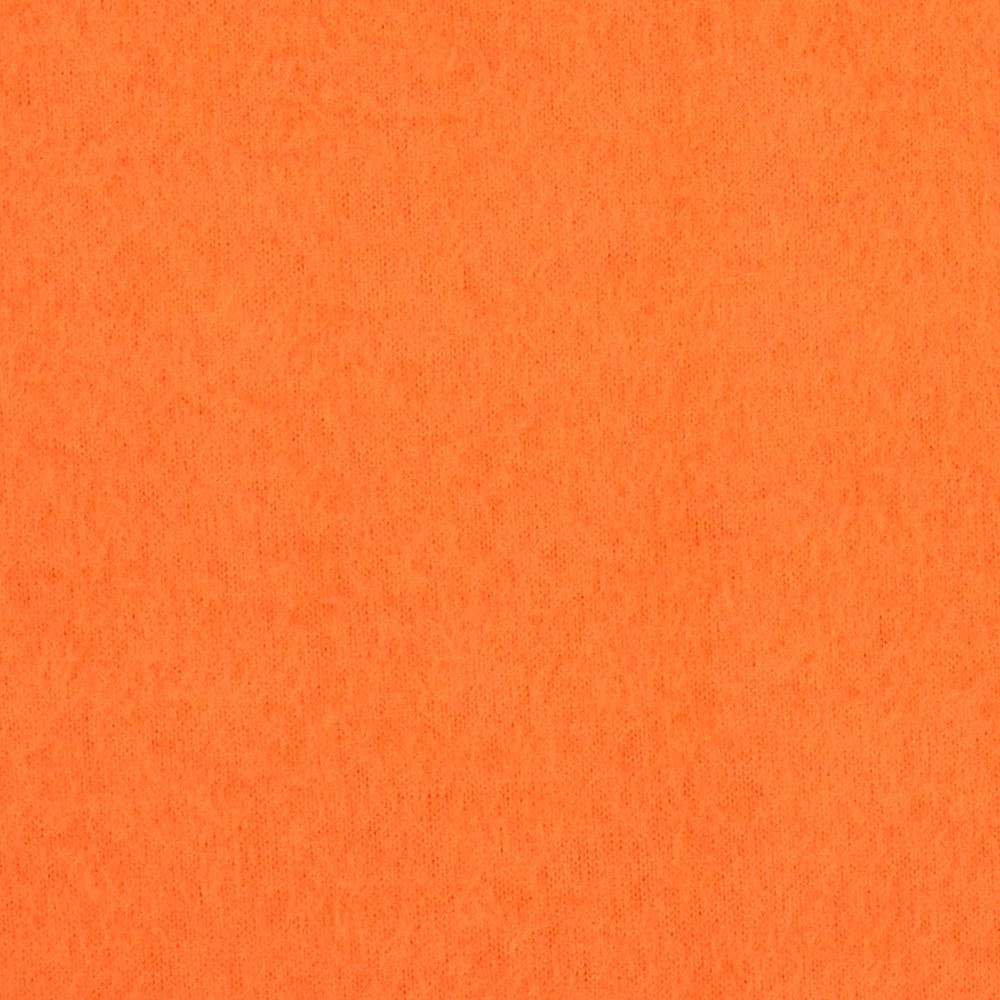 Warm Winter Fleece Solid Orange Fabric