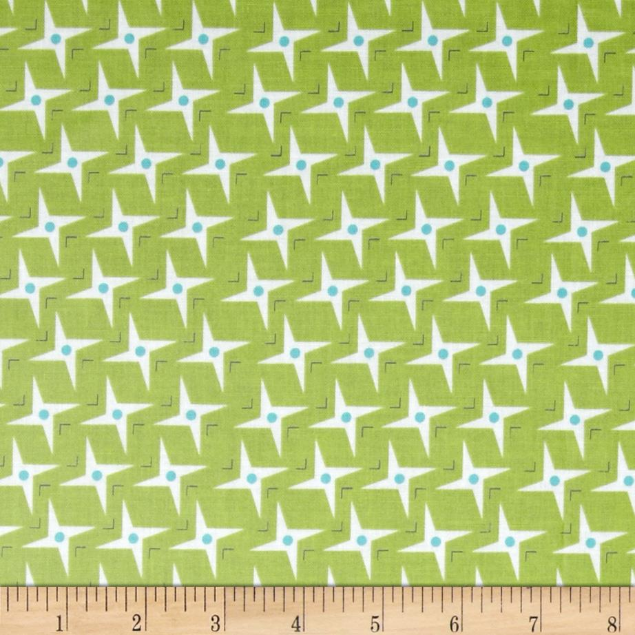 Riley Blake Gracie Girl Laminated Cotton Sparkle Green