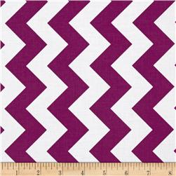 Riley Blake Medium Chevron Purple Fabric
