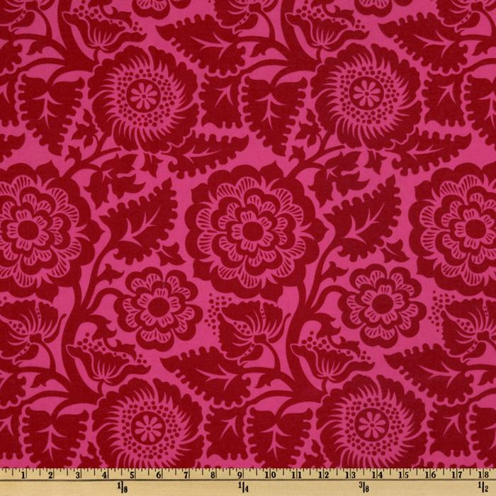 Joel Dewberry Heirloom Blockprint Blossom Crimson