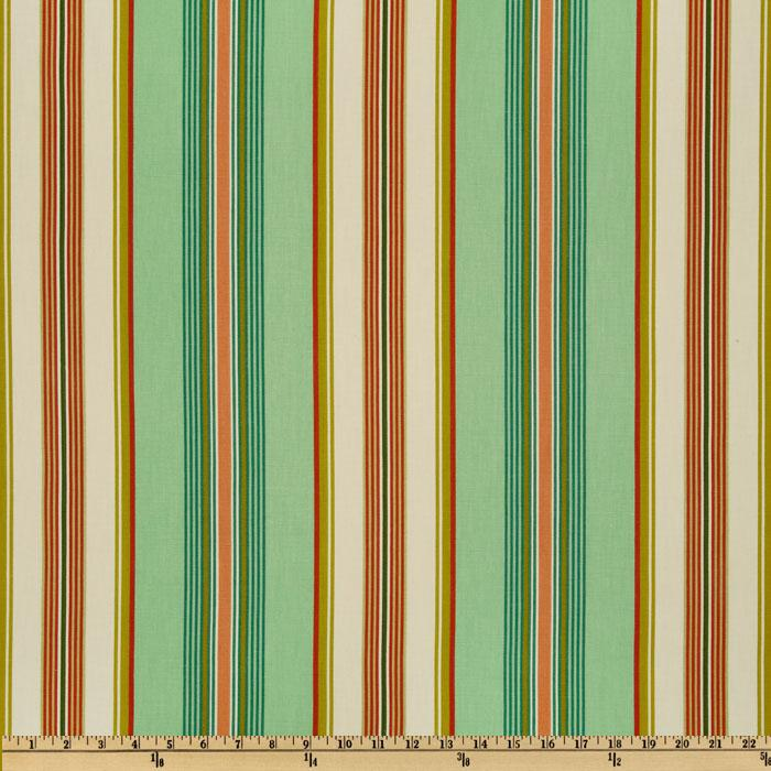 Swavelle/Mill Creek Biscayne Stripe Aquarius