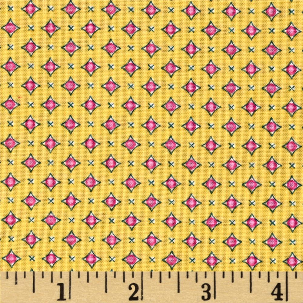 Prairie Yard Goods Mini Geo Yellow