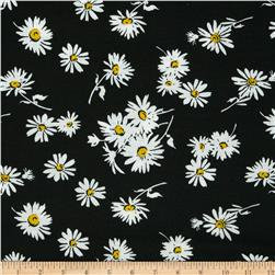 Soft Jersey Knit Floral Black/Yellow/White