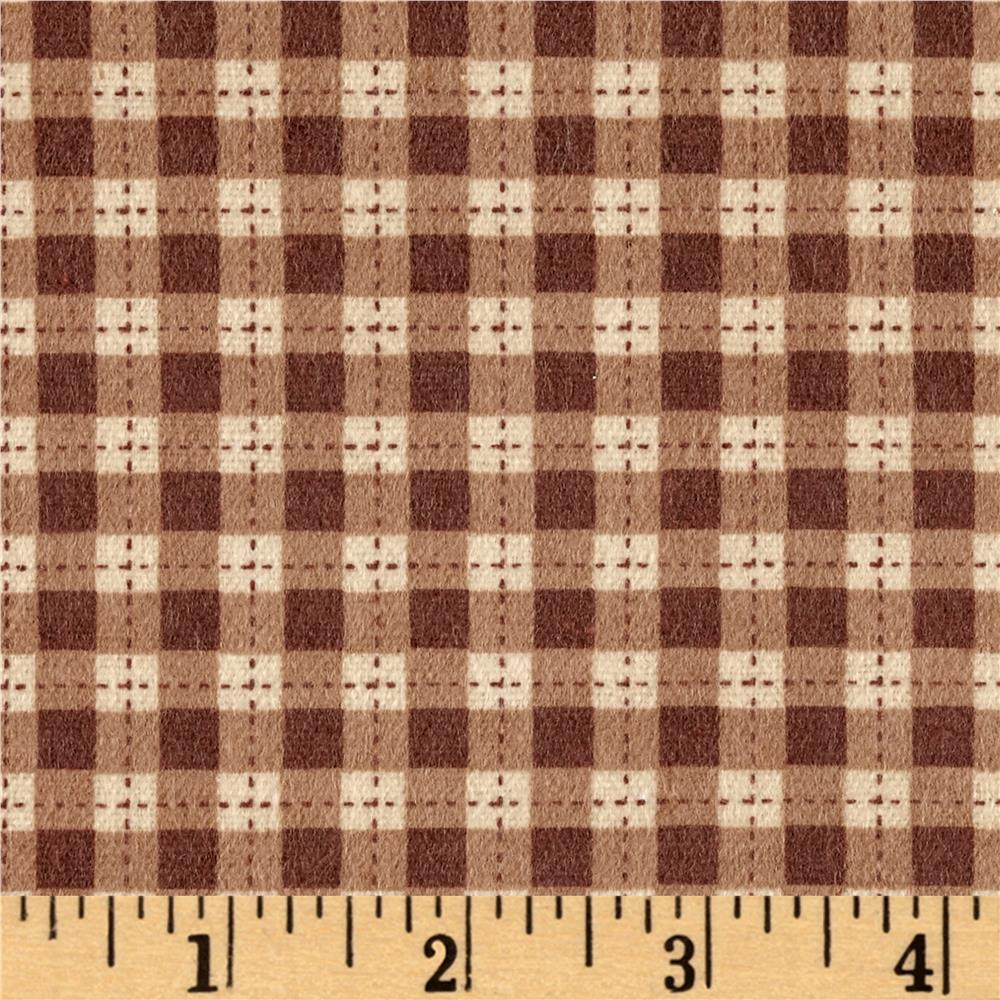 Flannel Gingham Brown