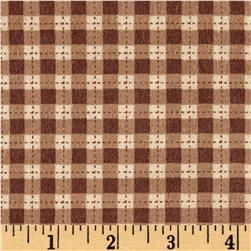 Cuddle Flannel Gingham Brown