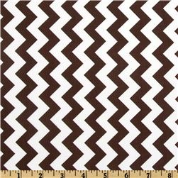 Riley Blake Chevron Small Brown Fabric