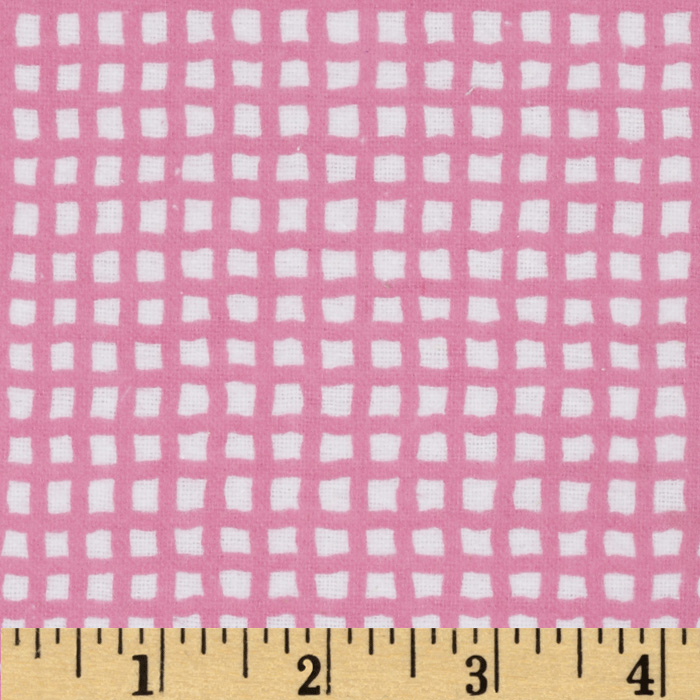 Alpine Flannel Basics Check Bright Pink