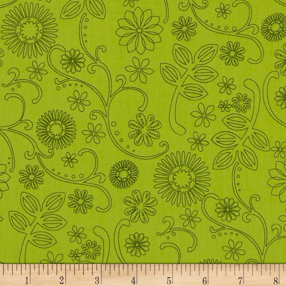 "110"" Wide Quilt Back Signature Lime"