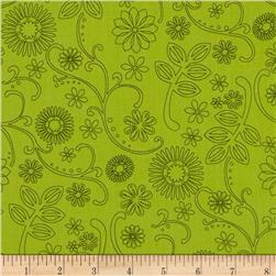 110'' Wide Quilt Back Signature Lime Fabric