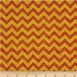 Monkey Mischief Chevron Yellow/Orange