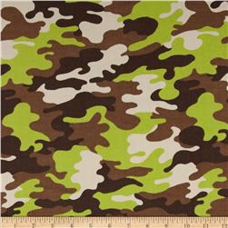 Kaufman Cool Cords Camo Jungle