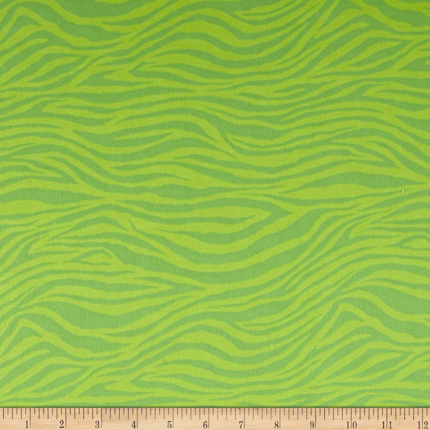 Flannel Zebra Lime Fabric