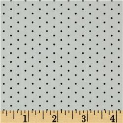 Stretch Cotton Poplin Dots White/Black