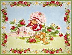 Strawberry Shortcake Classic Panel Pink