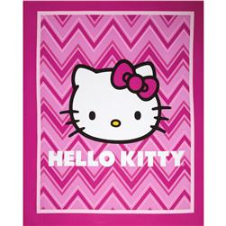 Hello Kitty Chevron Panel Pink