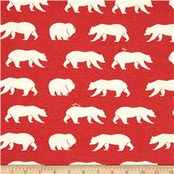 Birch Organic Bear Camp Interlock Knit Bear Hike Coral