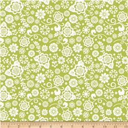 Riley Blake Fancy Free Fancy Floral Green Fabric