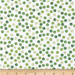 In Your Neighborhood Small Dot Lime Fabric