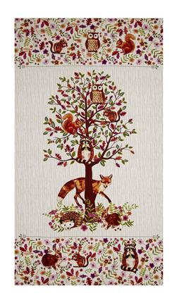 "Jennifer Brinley Enchanted Forest Enchanted 24"" Panel Cream"