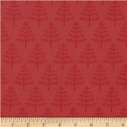 Moda Into the Woods Little Trees Cranberry