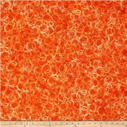 Bali Batiks Handpaints Circles Pumpkin