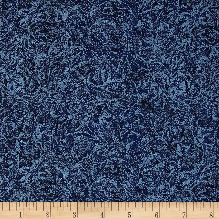 Timeless Treasures Pearlized Texture Navy