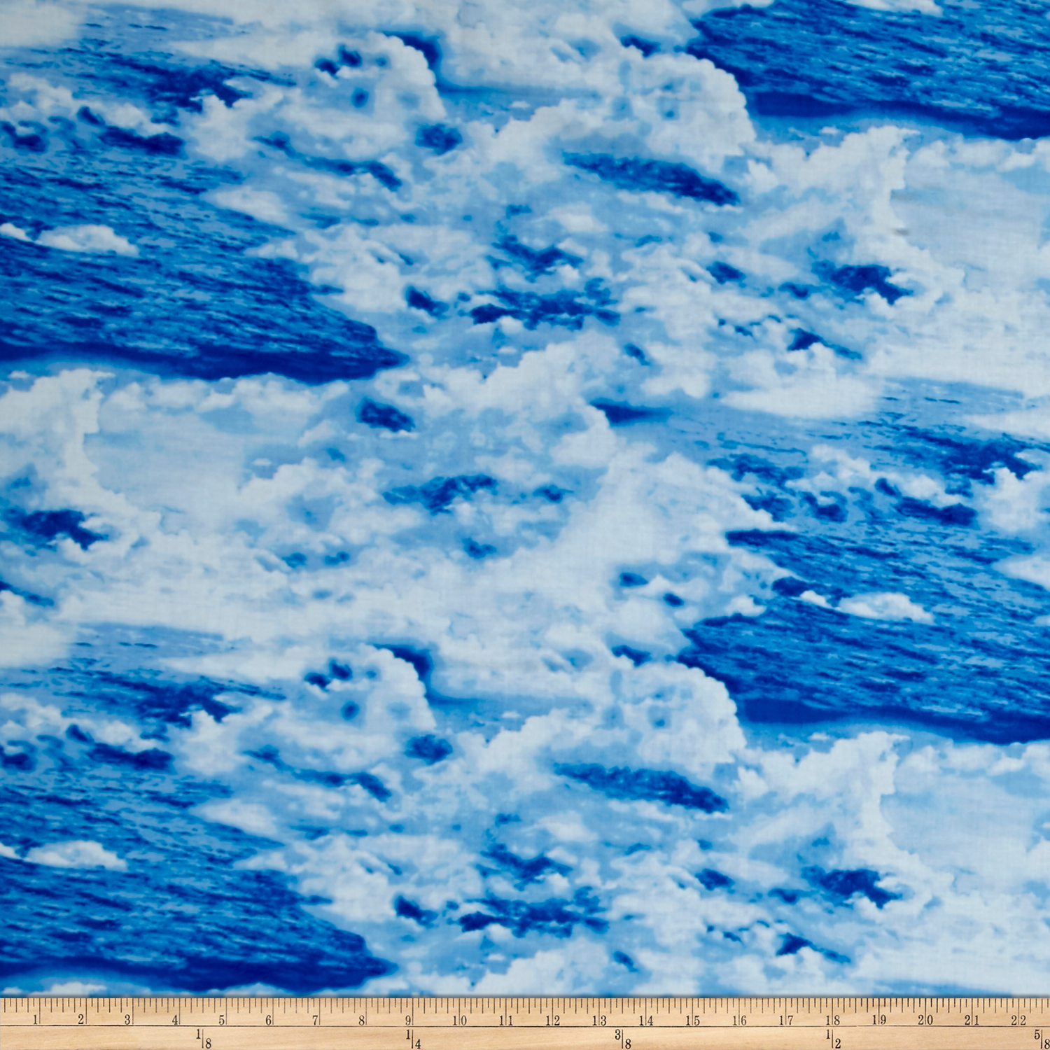 Make A Splash Sky And Water Blue Fabric by Exclusively Quilters in USA