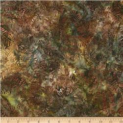 Artisan Batiks Northwoods Bare Leaves Earth Brown