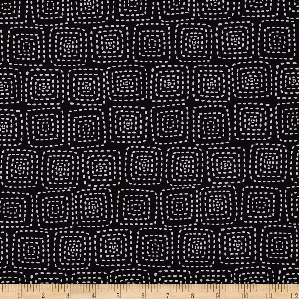 Michael Miller Stitch Square Black