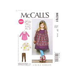 McCall's Toddlers'/Children's Dresses, Top and Leggings Pattern