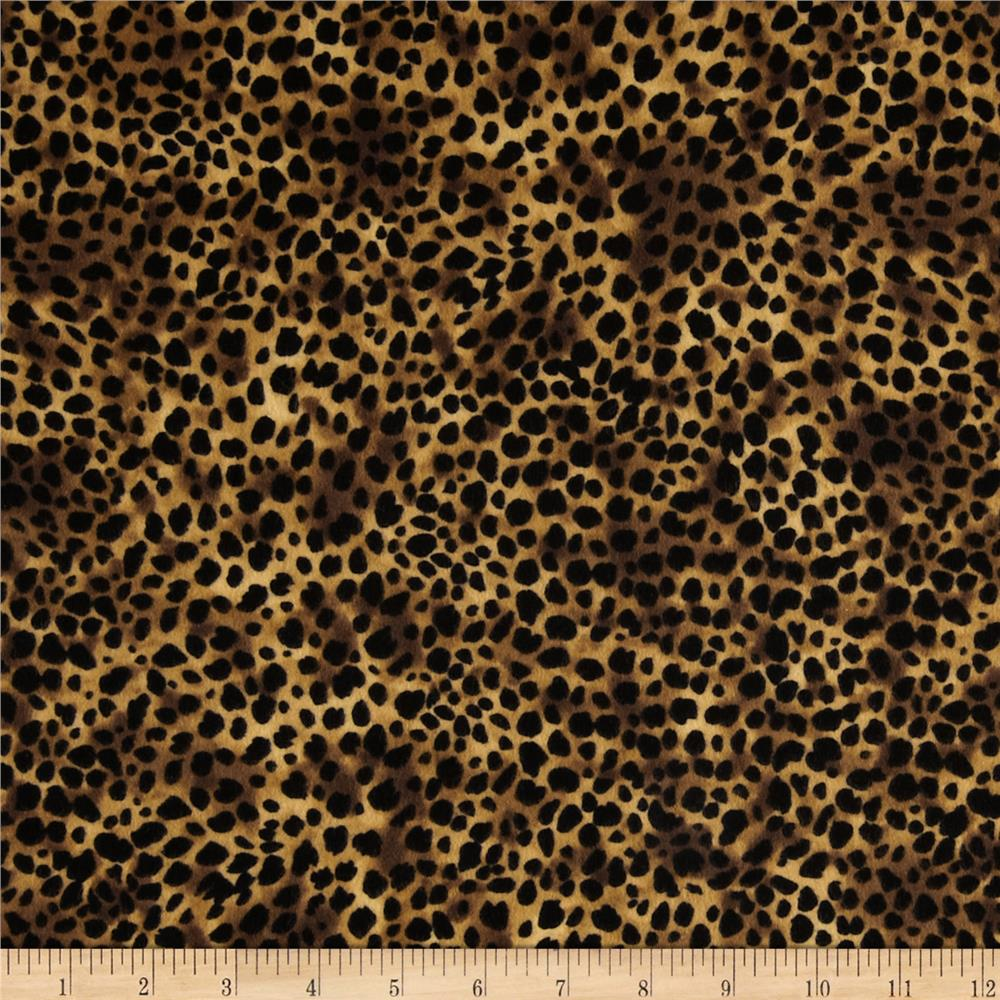 Timeless Treasures Wild World Flannel Cheetah Gold