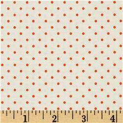 Riley Blake La Creme Basics Swiss Dots Cream/Orange