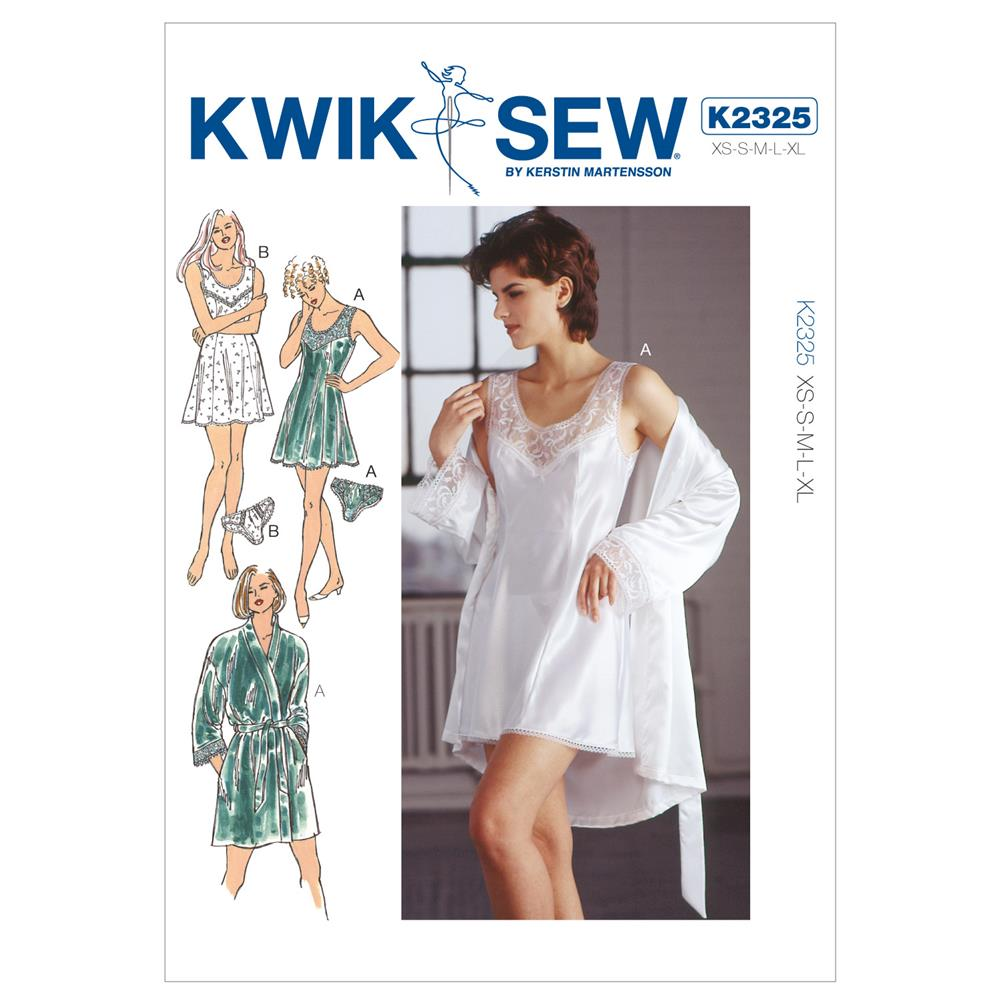 Kwik Sew Princess Line Chemise, Wrap Robe & Panties Pattern