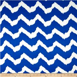 Chiffon Chevron Royal/White