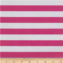 Oil Cloth Stripes Pink Fabric