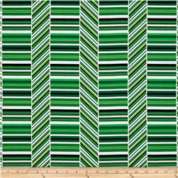 Kanvas Deck the Halls Peppermint Stripe Green/White
