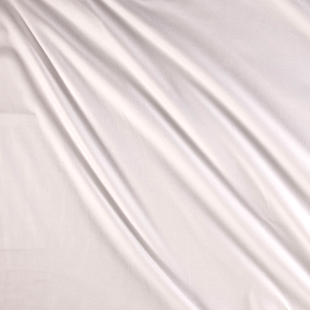 Suede Flannels White Fabric by P & B in USA