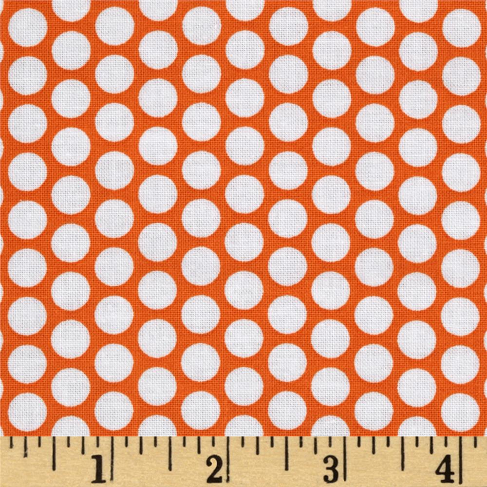 Riley Blake Honeycomb Dot Orange/White
