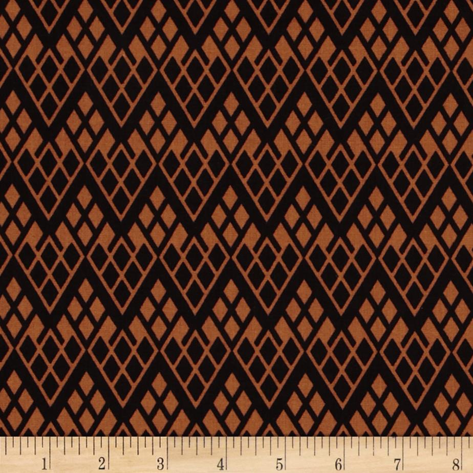 Black & Tan Chevron Trellis Black/Cognac