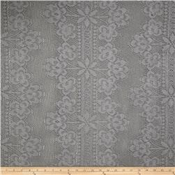 Crochet Lace Black/Grey