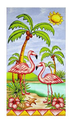 "Pink Lady Flamingo 23.5"" Panel Pink"