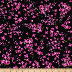 Wildflowers Tossed Floral Black