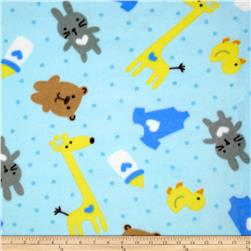 WinterFleece Baby Playtime Blue Fabric