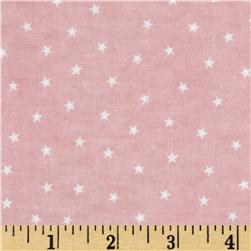 Bears and Buddies Flannel Stars Pink