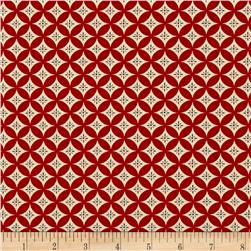 Moda Sew American! Overlapping Circles Red